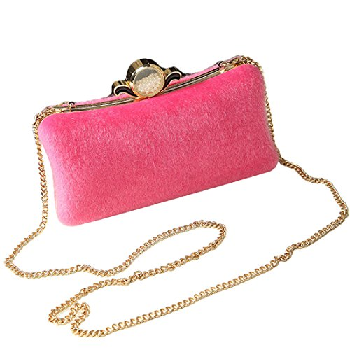 YYW Evening Bag - Cartera de mano para mujer rosa (b)