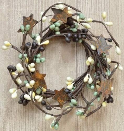(Mini Pip & Rusty Star Candle Ring/Wreath (Coffee Bean))