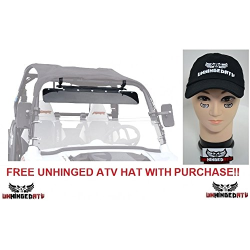 Bundle 2 Items  Tusk Utv Sun Visor And Free Unhinged Atv Hat    Fits  Polaris Ranger Rzr 900 Xc 2015 2017