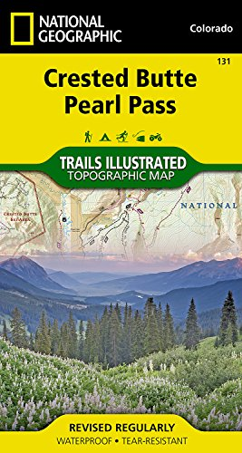 Crested Butte, Pearl Pass (National Geographic Trails Illustrated Map)