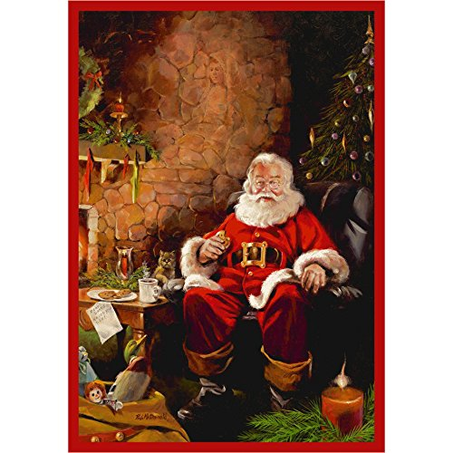 Milliken RJ McDonald Christmas Party Novelty Rug 5'4