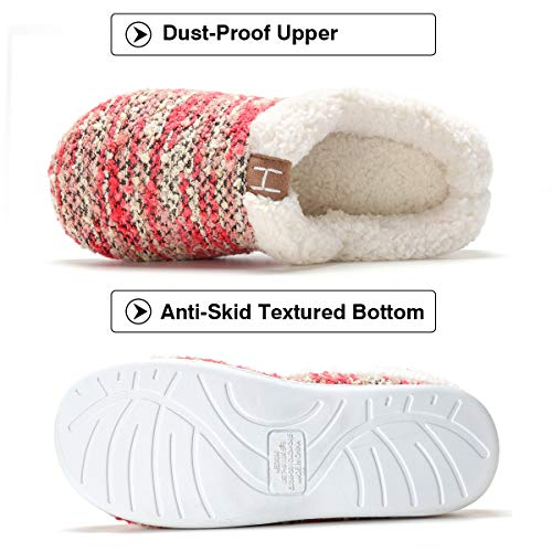 Fleece Indoor Foam Plush Shoes Red Like Memory INFLATION Wool House Slippers amp;Outdoor Women's 1SEq8