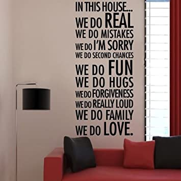 Decalgeek In This House We Do Love Quote Wall Decal Decor Quote