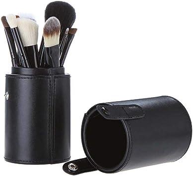 Estuche de piel vacía para brochas de maquillaje, organizador de cosméticos portátil: Amazon.es: Bricolaje y herramientas