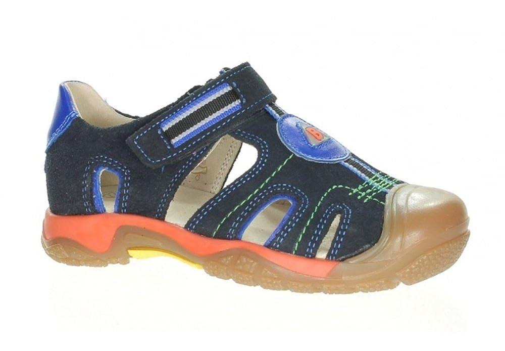 Bartek Boys Leather Sandals Closed Toe and Back 66004//Q51 Navy Little Kid//Big Kid