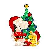 Adorno Navidad iluminado para exterior/interior- Snoopy-arbol de navidad