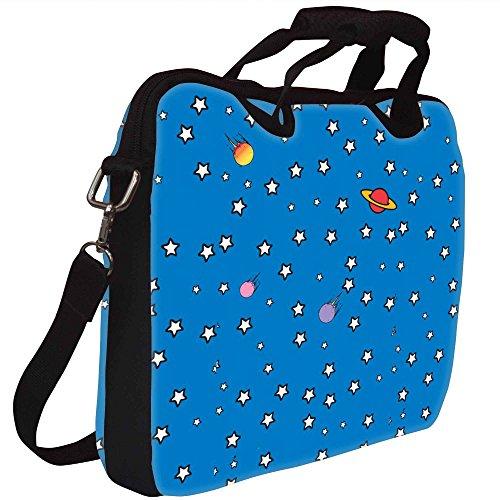 Snoogg Sterne-Telefon-Abdeckung Gedruckt Notebook-Tasche mit Schultergurt 15 bis 15,6 Zoll