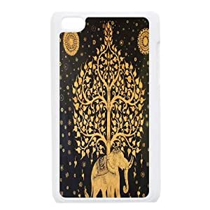 ZK-SXH - Tribal Elephant Pattern Personalized Phone Case for iPod Touch 4, Tribal Elephant Pattern Customized Cover Case