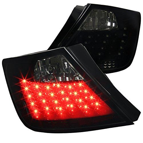 Spec-D Tuning LT-TC04G2BBLED-TM Spec-D Led Tail Lights Glossy Black Housing With Smoke Lens
