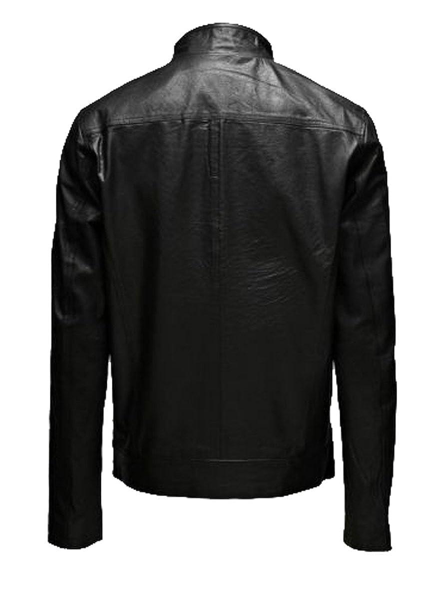 be760b377d6 ... Black Men Slim Fit Biker Biker Biker Motorcycle Lambskin Leather Jacket  Coat Outwear Jackets LTN1149 a0d856 ...
