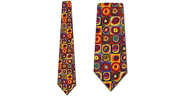 Kandinsky ata corbatas cuadradas y círculos concéntricos corbata ...