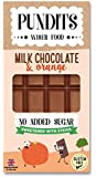 Pundits - Milk Chocolate & Orange Bar - with Natural Stevia Sweetener by Pundits | Healthy, Irresistibly Tasty Chocolate | Suitable for Diabetics | Low Carb, Gluten & Sugar Free | Sweet Delight with Zero GI for Kids & Adult