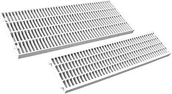 Rejilla para canaleta de desagüe de PVC modular, drenaje de agua, 130 x 500 mm.: Amazon.es: Bricolaje y herramientas