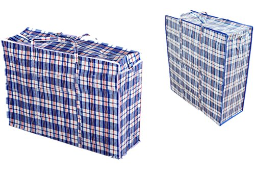 Set of 2 Stevenynn Large Laundry Moving Bags with Zipper and Handles!Size23x23x5.7/18x19x4.7 Great for Travel,Laundry,Shopping,Storage,Moving! (blue)