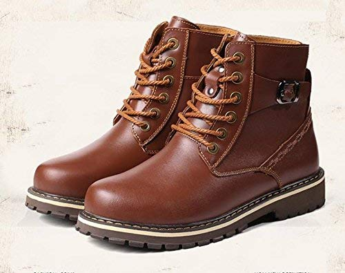 Oudan botas cálidas de Invierno para Hombre Botines Impermeables con Exterior clásico (Color   47, tamaño   marrón) 47