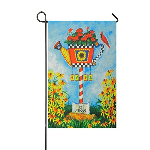 FUNNYFLAG Garden Flag Holiday Decoration Best for Party Yard and Home Outdoor Decor 11.5 x 17.5 inch Birdhouse & Watering Can Special