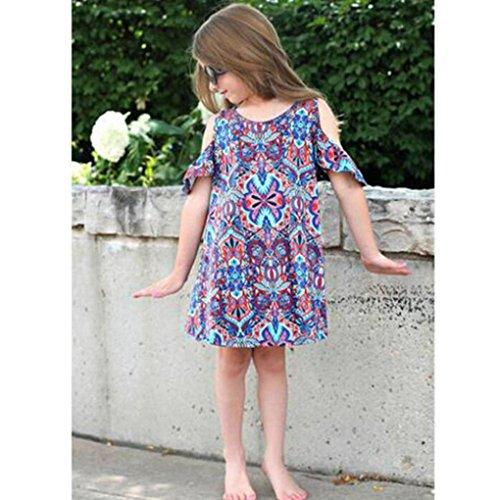 Durable Modelando K Youth 2018 Barata Verano Ropa Bebe Niñas Vestido Niña Bohemio Impresión Trajes Vestidos Para Niña Casual Vestido Infantil Fiesta