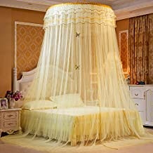 Mosquito Net - Keeps Away Insects & Flies - Perfect For Indoors And Outdoors, Playgrounds, Fits Most Size Beds, Cribs - Including Hanging Parts and a FREE Carry Bag To Carry Along (Beige)