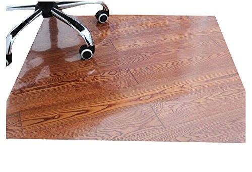 Transparent Flooring - PVC Office Chair Mat Carpet for Hard Flooring Protection [Transparent, 80x100cm] Computer, Electronics