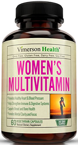 Women's Multivitamins. Natural, Non-Gmo, Gluten Free, Dairy Free. With Biotin + Folic Acid + Vitamins A B C D E + Calcium + Zinc + Lutein + Magnesium + Manganese & More. Multivitamin for Women (Chromium 100 Tabs)