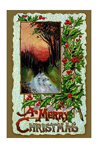 Merry Christmas Print Canvas