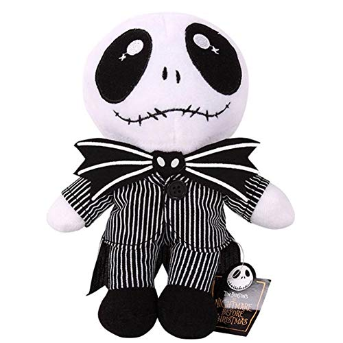 Nightmare Before Christmas Theme (CheeseanU 25CM Nightmare Before Christmas Jack Skellington Plush Toys Doll Lovey Skull Jake Plush Stuffed Toys for Baby Children Kids Birthday Doll Gifts Halooween Party Accessory, 10