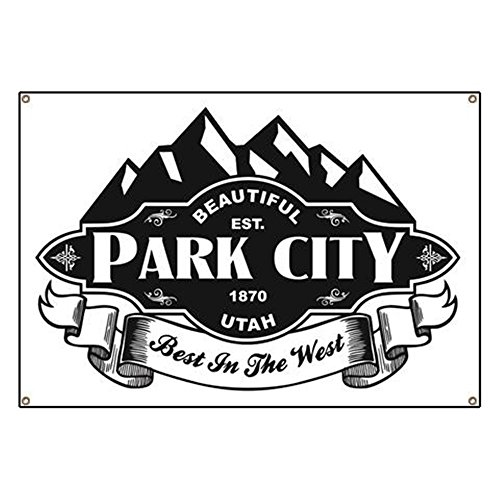 CafePress Park City Mountain Emblem Vinyl Banner, 44