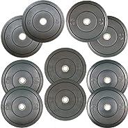 260lbs Set Rubber Bumper Plates (2x45, 2x35, 2x25, 2x15, 2x10)