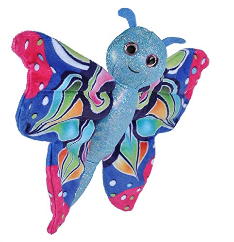 - Wild Republic Huggers Butterfly Blue Plush Toy, Slap Bracelet, Stuffed Animal, Kids Toys, 8