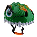 Children's Cartoon Bicycle Safety Helmet Mountain Bike Cycling Helmet - Green, 260mm x 200mm x 156mm/10.23in x 7.87in x 6.14in