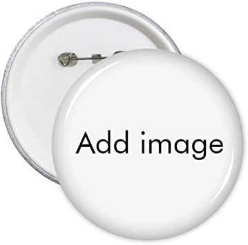 Custom Made Round Pins Badge Button Clothing Decoration Gift 5pcs Add Your Image Photo Design