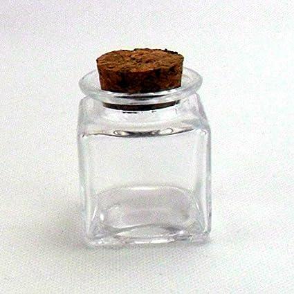 Bomboniere Barattoli in vetro e tappo in sughero 48pz quadrato