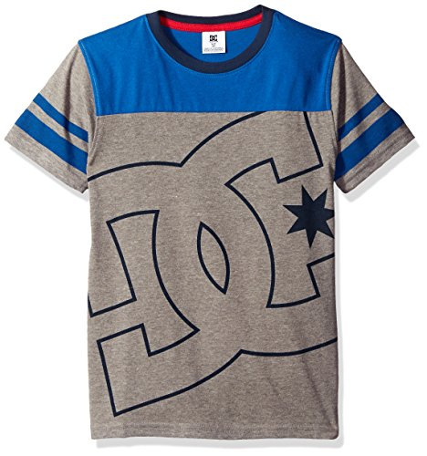 DC Apparel Little Boys Fade Out Block Short Sleeve Crew Neck Tee, Medium Grey Heather, ()