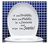 Gesture Hand Decal Funny Bathroom Toilet Seat Sticker Sign for If You