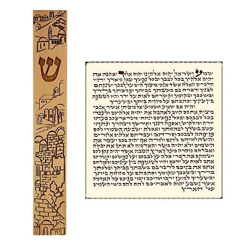 Talisman4U Waterproof Jewish MEZUZAH CASE with Scroll Classic Israel Judaica Plastic Door Mezuza 5 Inch (Jerusalem ()
