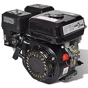 15 HP 9,6 kW Motor de gasolina con arranque eléctrico, Negro ...