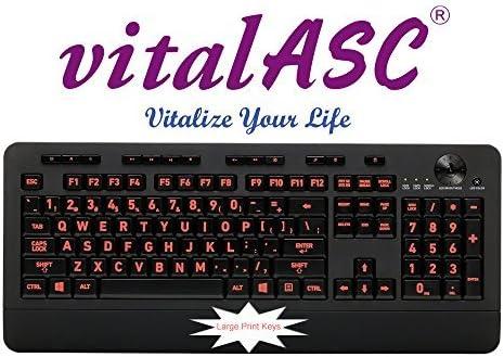 Tri-color Usb With Backlit Led Aluratek AKBLED01F Large Print Usb Keyboard