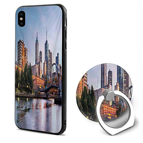City iPhone x Cases,Early Morning Scenery in Melbourne