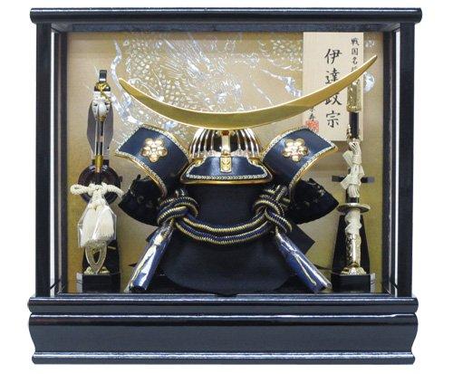 京寿 五月人形 兜飾り ケース入り 木製弓太刀付 間口33×奥行23×高さ30cm 8号伊達兜ケース飾り(小) YN21881GKC B00CGPKAPC