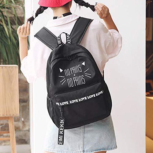 Everpert porté à Noir Femme Main Sac Noir Dos au Everpert pour Noir 6qr6aAgW