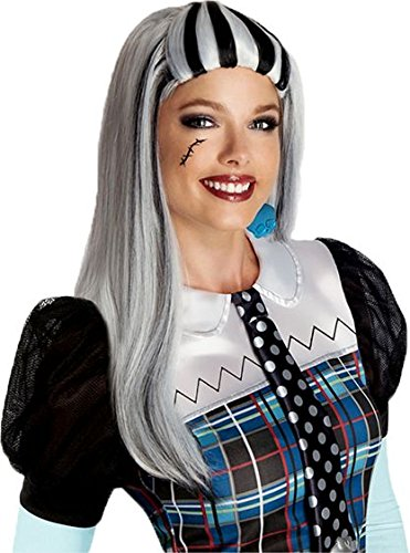 Monster High Frankie Stein Wig, Silver/Black, One -