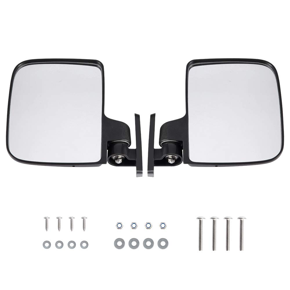 BETOOLL HW9008 Golf Cart Folding Side View Mirrors for Club Car, EZGO, Yamaha, Star, Zone Carts by BETOOLL