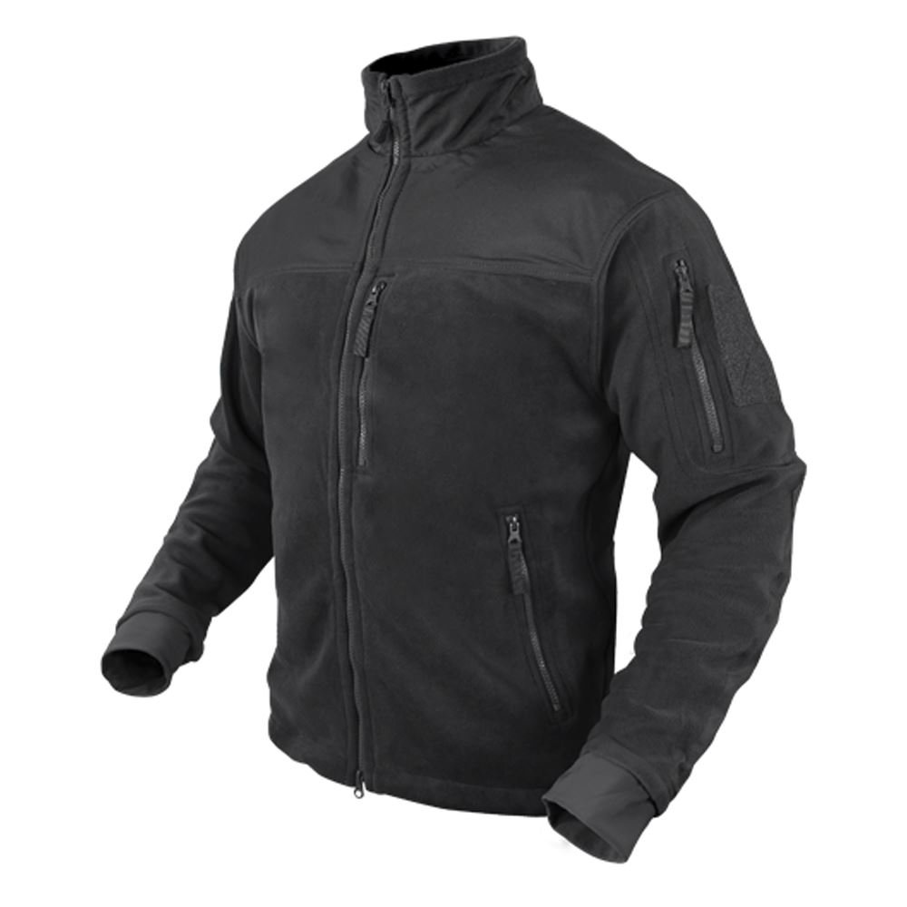 Condor Men's Alpha Tactical Fleece Jacket - Black XL by CONDOR