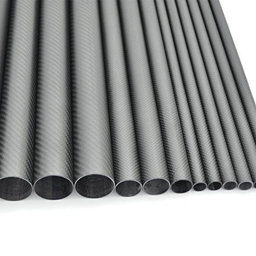 (Abester 3K Carbon Fiber Wing Tube ID 57mm x OD 60mm x 500mm Matt Pipe (1 Piece) )