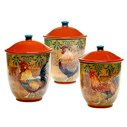 (Certified International Rustic Rooster Canister (3-piece Set))