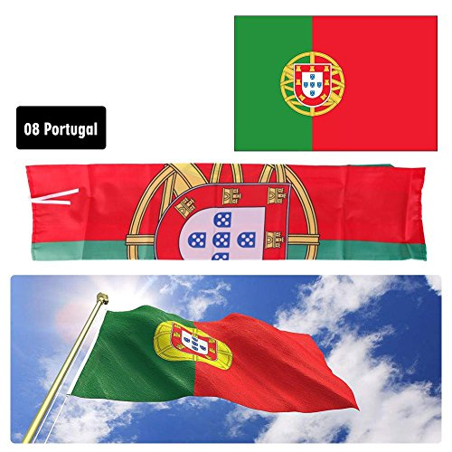 FANMURAN National Flags Indoor Outdoor Decor for World Cup Banner Flag 90150CM Portugal