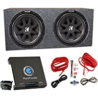 2) Kicker 43C154 1000 Watt 15 Subwoofers + Sealed Box Enclosure + Amp + Wiring