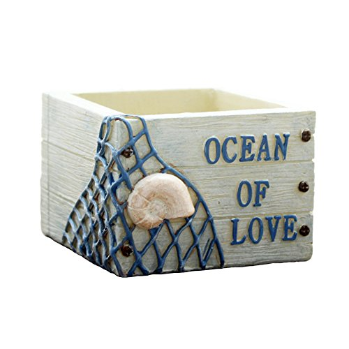 Ocean Pot - JAMOR Micro - Landscape Plant Pots Small Creative Flower Pots Cute Cartoon Box Design (Ocean)