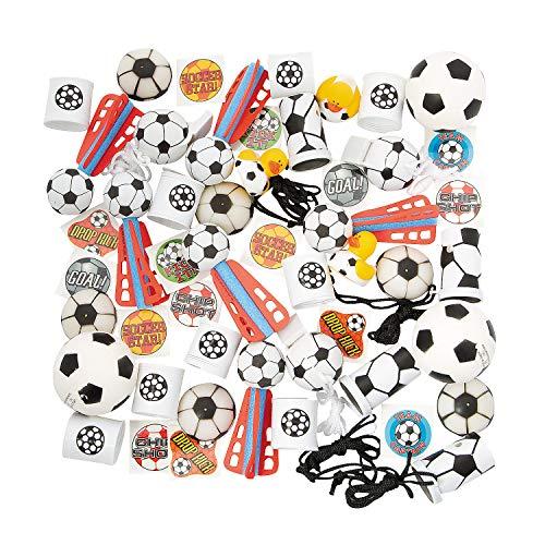 Oriental Trading Soccer (Fun Express - Soccer Assortment (50pc) - Toys - Assortments - 50Pc Assortments - 50)