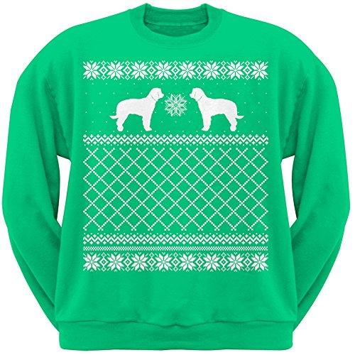 UPC 889357227090, Labradoodle Green Adult Ugly Christmas Sweater Crew Neck Sweatshirt - 2X-Large